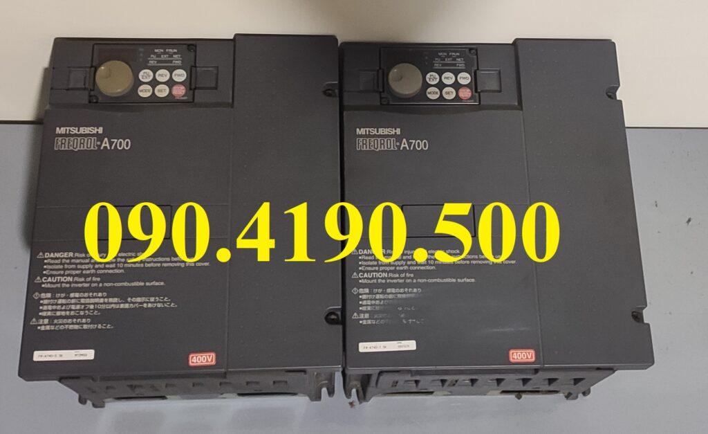Biến tần Mitsubishi A700 vào 1 pha 220v ra 3 pha 380v
